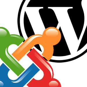 Logotipos: Joomla! e WordPress