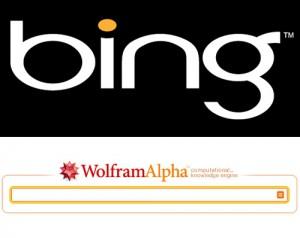 Bing e Wolfram Alpha juntos...