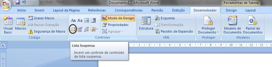 Como criar formulário com macro no Word