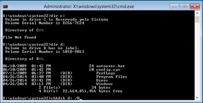 Como recuperar o Windows com falha na inicialização