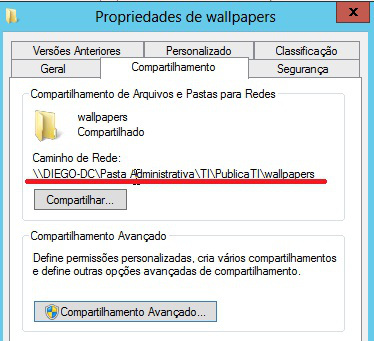 Como inserir um papel de parede via GPO do Windows