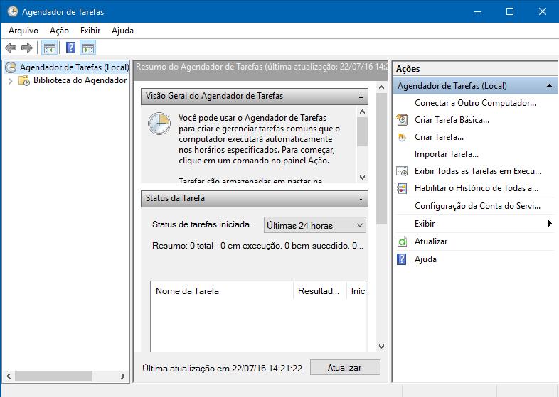 Como usar o Agendador de Tarefas do Windows