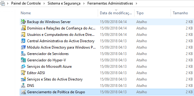 Figura 1.1 – Ferramentas Administrativas – Windows Server