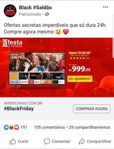 Anúncio-Fraude-Phishing-Facebook-Saldão-Americanas-TV-Samsung-4K-58